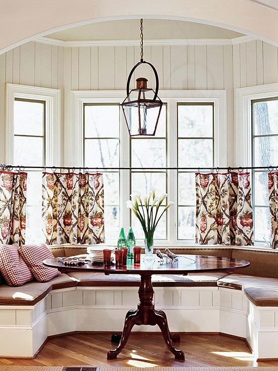 Cafe Curtain Inspiration For The Dining Room Em Marvelous